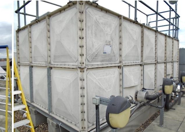 preparation of GRP water tank
